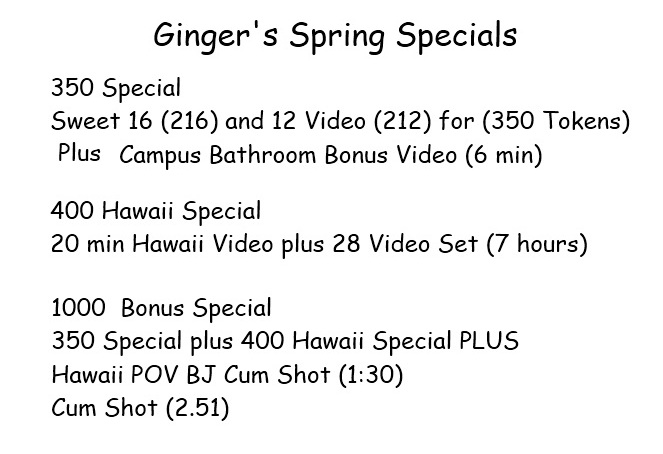 Gingers Spring Special